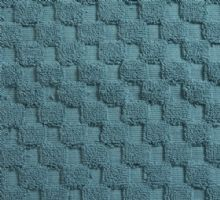 Luxurious linenHall, 850gsm 100% Cotton Reversible Bath Mat in Teal